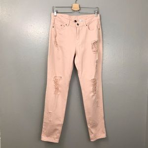 Divided Distressed Pink Skinny Jeans Pants